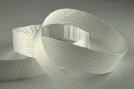 16mm White Grosgrain Ribbon x 4 Metre Ribbon Rolls!!