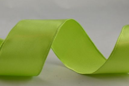38mm Green Wired Single Sided Satin x 3 Metre Rolls!