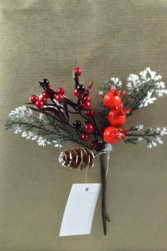 Pine Cones & Berries Christmas Pick