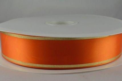 25mm & 38mm Orange Satin Tramline Ribbon x 100 Metre Rolls!!