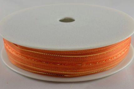 15mm Orange Fasbo Sheer Pull Bow Ribbon x 25 Metres!