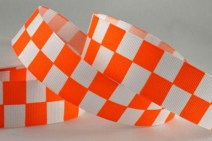 25mm & 38mm Orange Boxed Printed Ribbon x 20 Metre Rolls!!