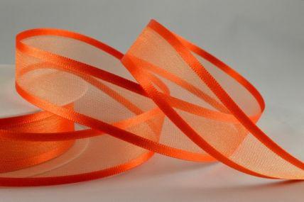 10mm, 15mm, 25mm, 40mm & 70mm Orange Satin Sheer Ribbon x 25 Metre Rolls!