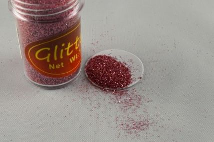 15g Pots of Colourful Rose Glitter