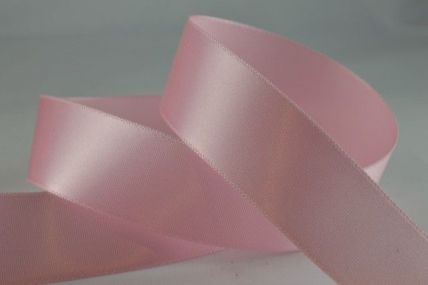 15mm, 25mm & 38mm Baby Pink Single Faced Satin Ribbon x 100 Metre Rolls!