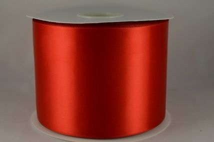 100mm Red Single Sided Satin Sash ribbon x 50 metre rolls!!