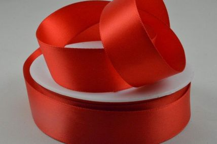 Red Double Faced Satin Ribbon x 25 or 50 Metre Rolls!