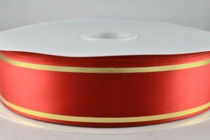 25mm & 38mm Red Satin Tramline Ribbon x 100 Metre Rolls!!