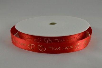 10mm Red True Love Ribbon x 5 Metre Rolls!!