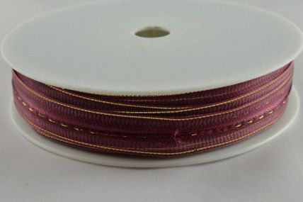 15mm Burgundy Fasbo Sheer Pull Bow Ribbon x 25 Metres!