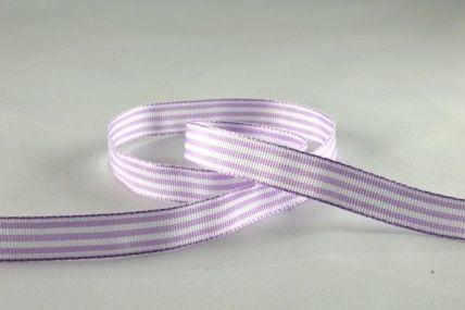 10mm Lilac Woven Striped Ribbon x 5 Metre Rolls!