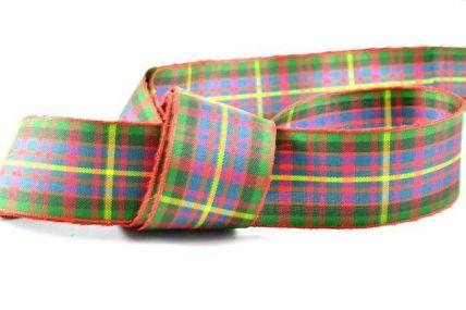 16mm & 25mm Red & Green Tartan Ribbon x 4 Metre Rolls!