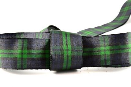 12, 16, 25 & 38mm Green Tartan Ribbon x 25 Metres!