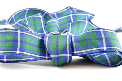 12, 16, 25 & 38mm Green & Blue Tartan Ribbon x 25 Metres!