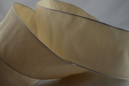 40mm Wired Ivory Ribbon x 20 Metre Rolls!!