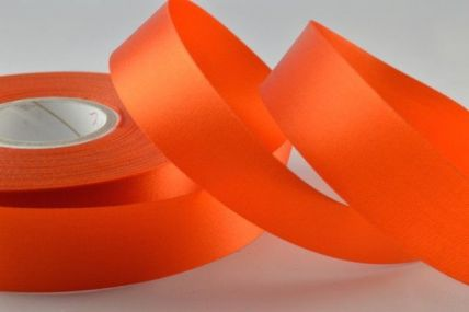 11mm, 13mm, 19mm & 38mm Burnt Orange Acetate Ribbon x 50 Metre Rolls!!