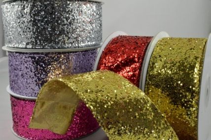 38mm Wired Sequin Ribbon x 10 Metre Rolls!