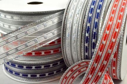 46045 - 16mm & 25mm Wired Lurex Lined Ribbon x 10 Metre Rolls!