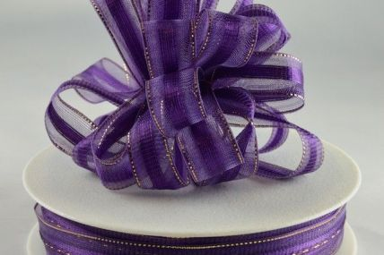 15mm Purple Fasbo Sheer Pull Bow Ribbon x 25 Metres!