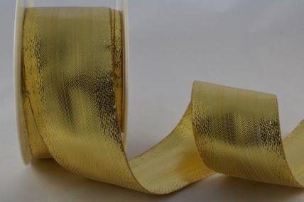 10mm, 15mm, 25mm & 40mm Gold Lurex Ribbon x 25 Metre Rolls!!