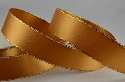3mm & 50mm Gold Satin with Lurex Edge x 20 Metre Rolls!