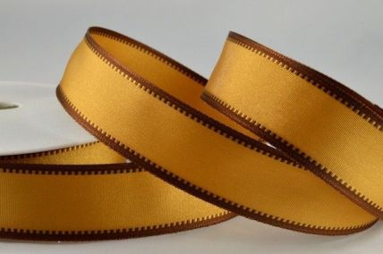 25mm & 40mm Gold Wired Coloured Fancy Edge Ribbons x 20 Metre Rolls!!