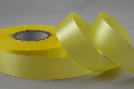 24mm Light Yellow Acetate Satin Ribbon x 50 Metre Rolls!