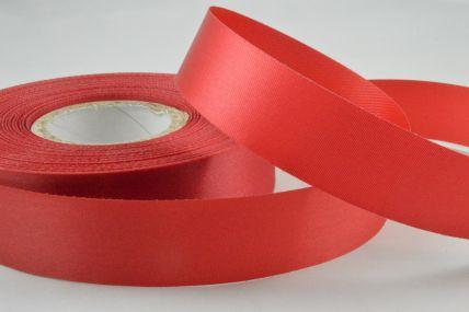 24mm Deep Red Acetate Satin Ribbon x 50 Metre Rolls!