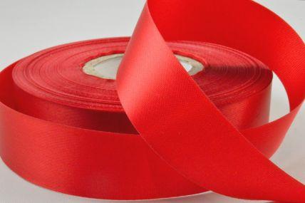 24mm Red Acetate Satin Ribbon x 50 Metre Rolls!