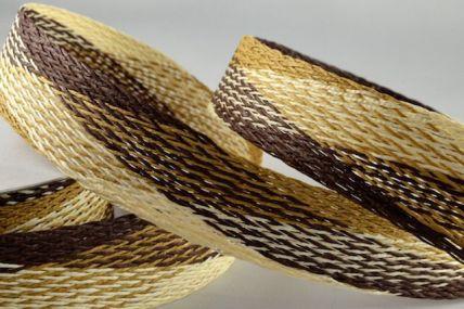 10mm & 30mm Brown Paper Stretch Ribbon x 15 Metre Rolls!!