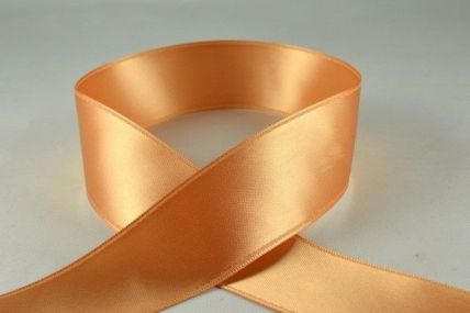 25mm Light Brown Double Sided Satin x 100 Metre Rolls!