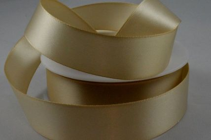 7mm Pale Brown Double Sided Satin x 100 Metre Rolls!