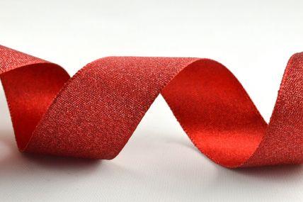 25mm Red Satin Glitter Ribbon x 20 Metre Rolls!