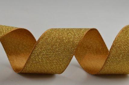 25mm Gold Satin Glitter Ribbon x 20 Metre Rolls!