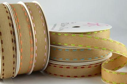 54414 - 16mm Brown Side Stitch Ribbon x 4 Metre Rolls!!