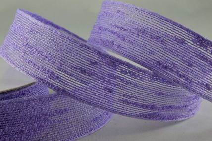 25mm & 38mm Lilac Woven Slub Ribbon x 10 Metre Rolls!