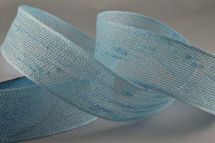 25mm & 38mm Baby Blue Woven Slub Ribbon x 10 Metre Rolls!
