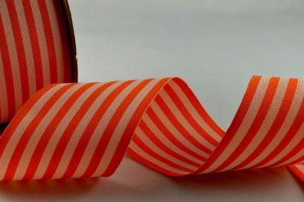39mm Orange Striped Ribbon x 10 Metre Rolls!!