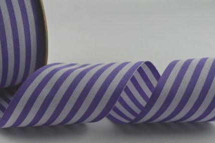 39mm Purple Striped Ribbon x 10 Metre Rolls!!