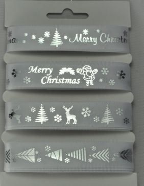 55086 - White Merry Christmas Selection Pack : 4 x 2 Metre Lengths