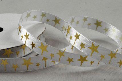 55110 - 10mm Satin Star Printed Ribbon x 10 Metre Rolls!