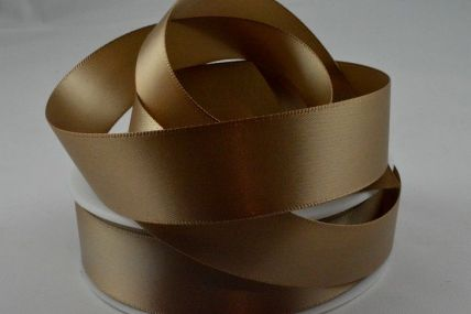 50mm Brown Double Sided Satin Ribbon x 100 Metre Rolls!