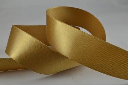 15mm, 25mm & 38mm Dark Gold Single Faced Satin Ribbon x 100 Metre Rolls!