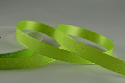10mm Green Polka Dot Ribbon x 20 Metre Rolls!!