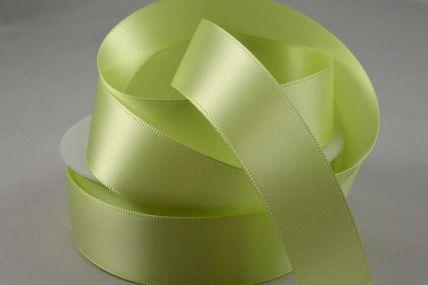 25mm Light Green Double Sided Satin x 100 Metre Rolls!