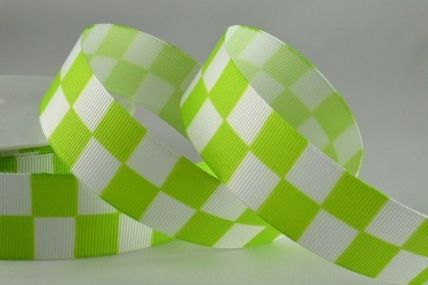 25mm & 38mm Green Boxed Printed Ribbon x 20 Metre Rolls!!