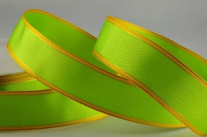 25mm & 40mm Light Green Wired Coloured Fancy Edge Ribbons x 20 Metre Rolls!!
