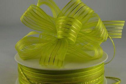 25mm Green Fasbo Pull Bow Sheer Ribbon x 25 metres!!