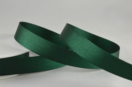 10mm, 16mm & 22mm Dark Green Grosgrain Ribbon x 20 Metre Rolls!