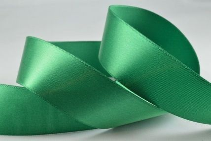 15mm, 25mm & 38mm Emerald Green Single Faced Satin Ribbon x 100 Metre Rolls!